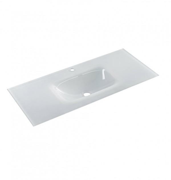 כיור משטח זכוכית לבן