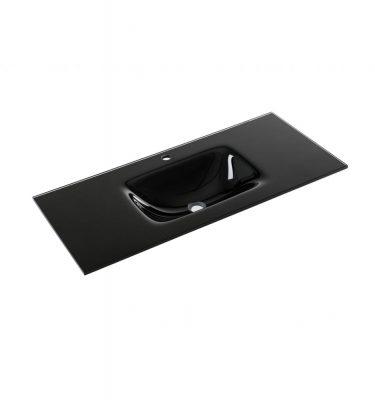 כיור משטח זכוכית שחור